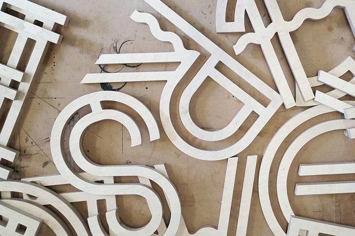 CNC cut letters