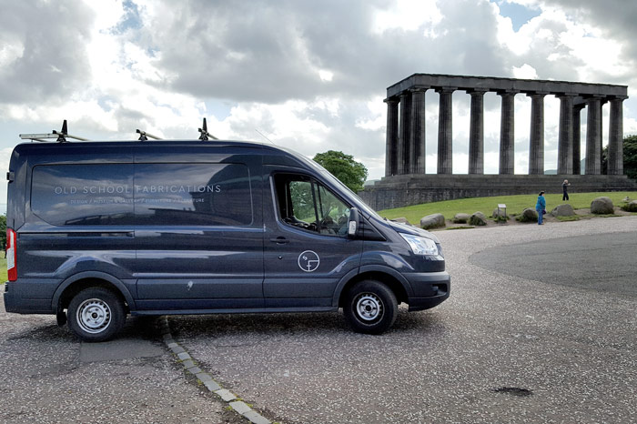 OSF van on Calton Hill, Edinburgh